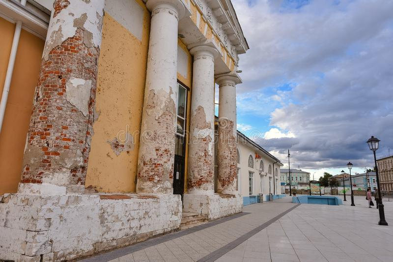 Columns of St. John the Theological Church in the city of Kolomna stock photography
