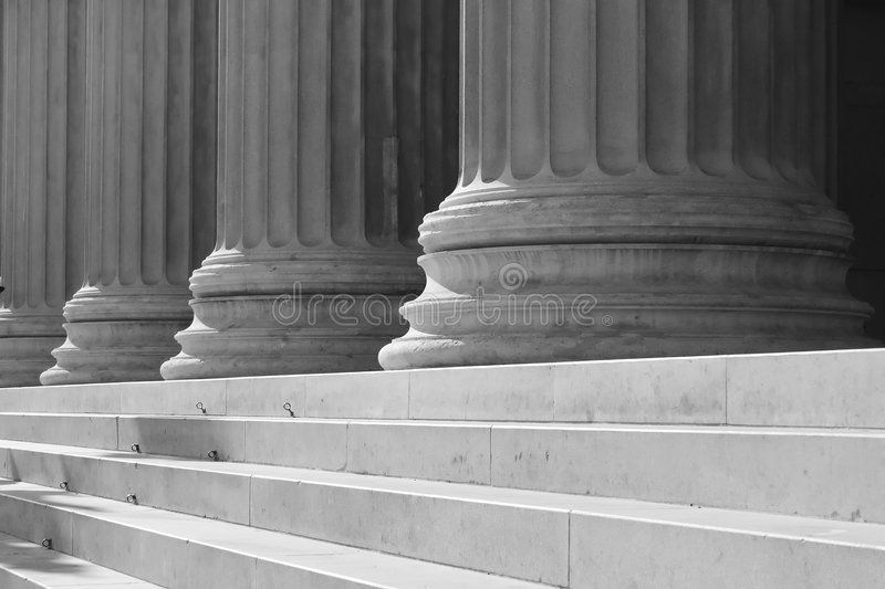 Columns and stairs stock photos