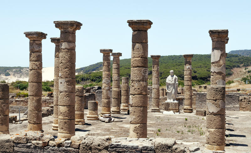 Download Columns an statue stock photo. Image of roman, cadiz - 25344260