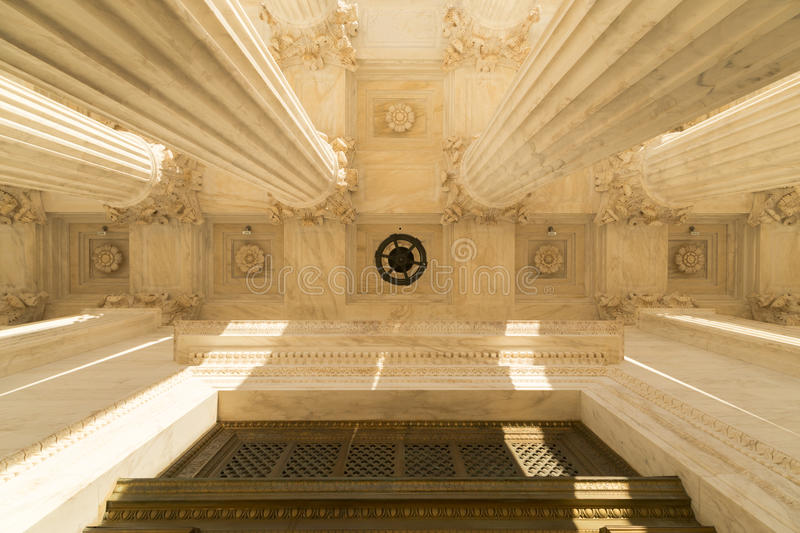 Columns of the Supreme Court of U.S. stock photography