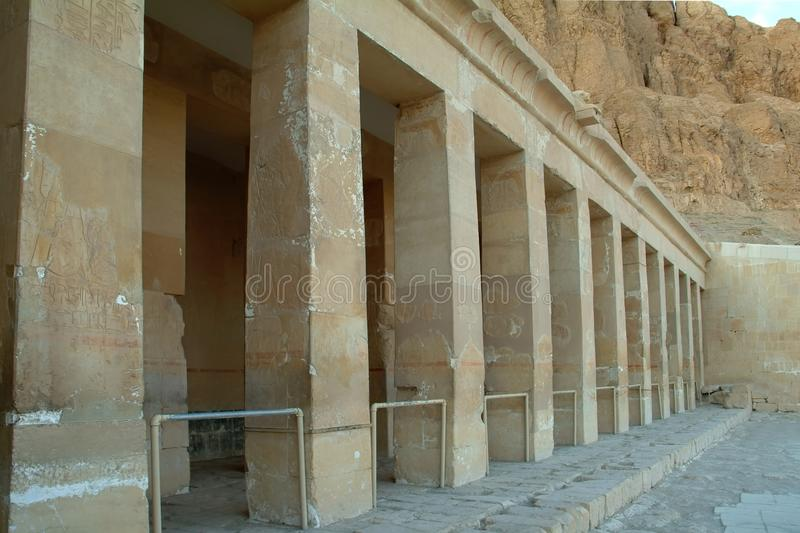 Columns Of The Temple Of Queen Hatshepsut without people, Thebes, UNESCO World Heritage Site, Egypt, North Africa stock photos