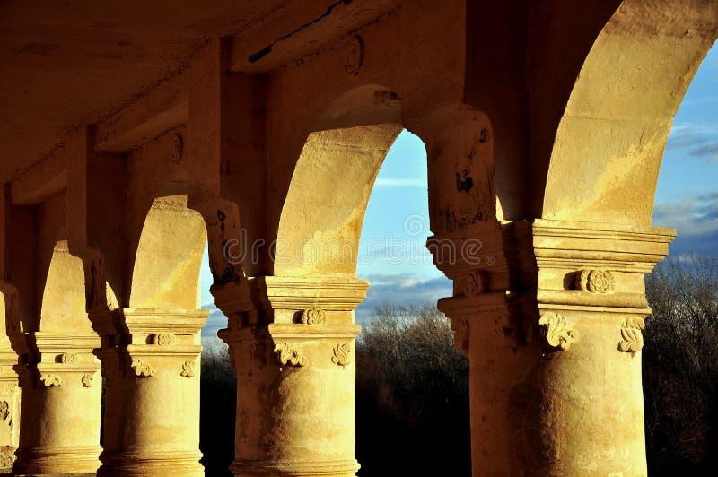 Columns in Transylvania stock photography