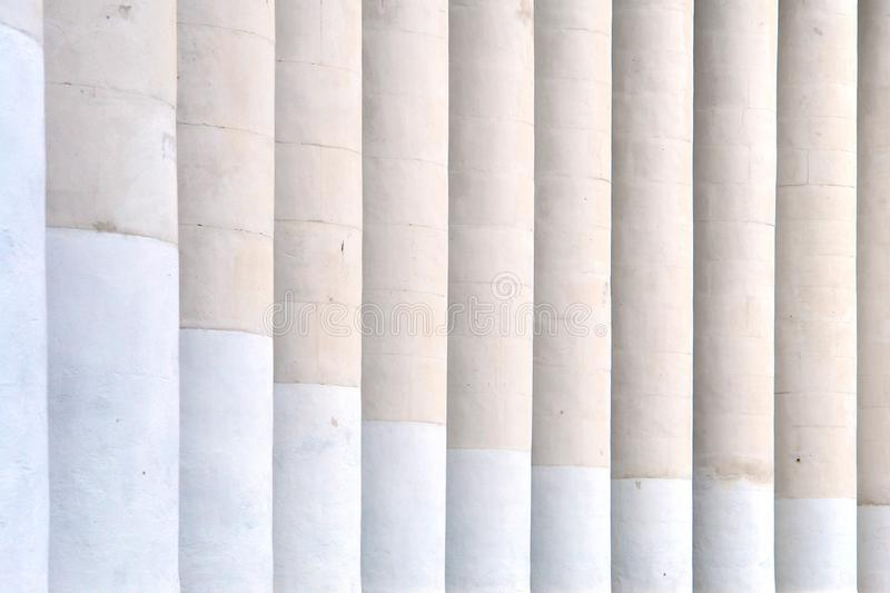 Columns and visual rhythm stock photography