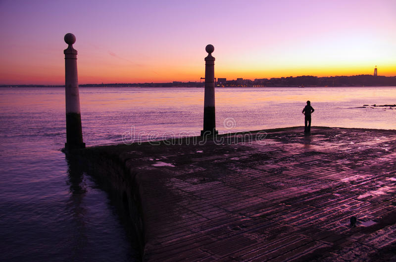 Download Columns Wharf stock photo. Image of floor, estuary, light - 23174012