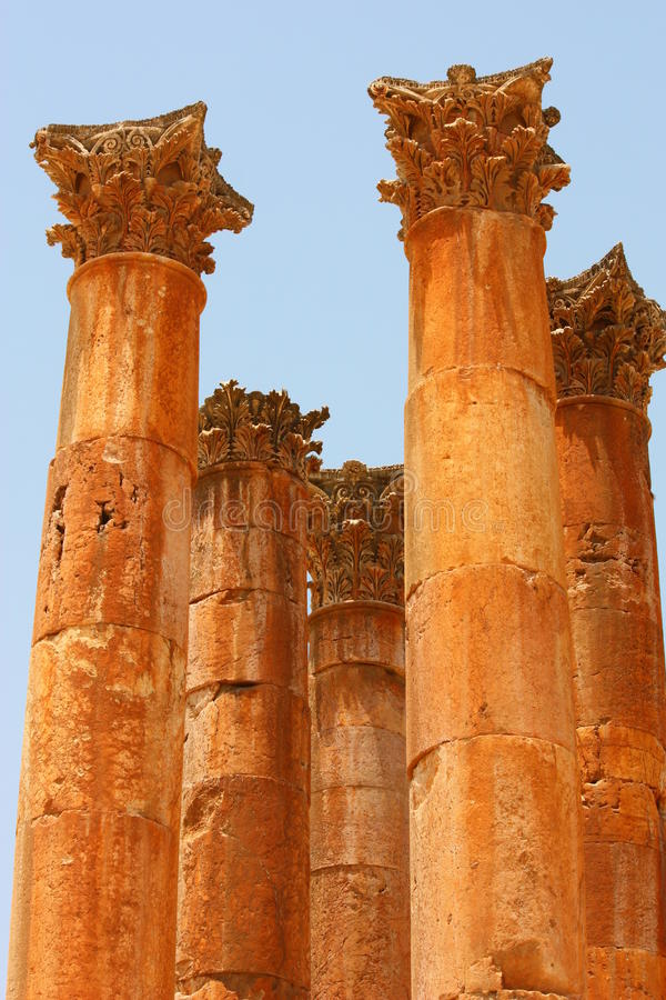 Colums in Jerash stock photography