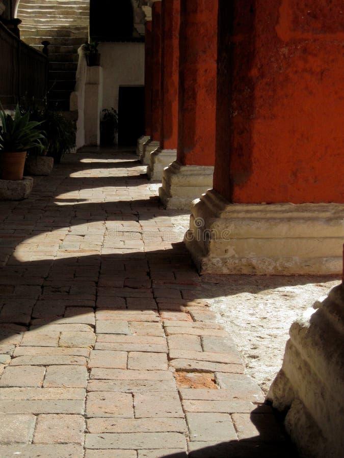 Colums, Santa Catalina (Arequipa, Peru) foto de stock royalty free