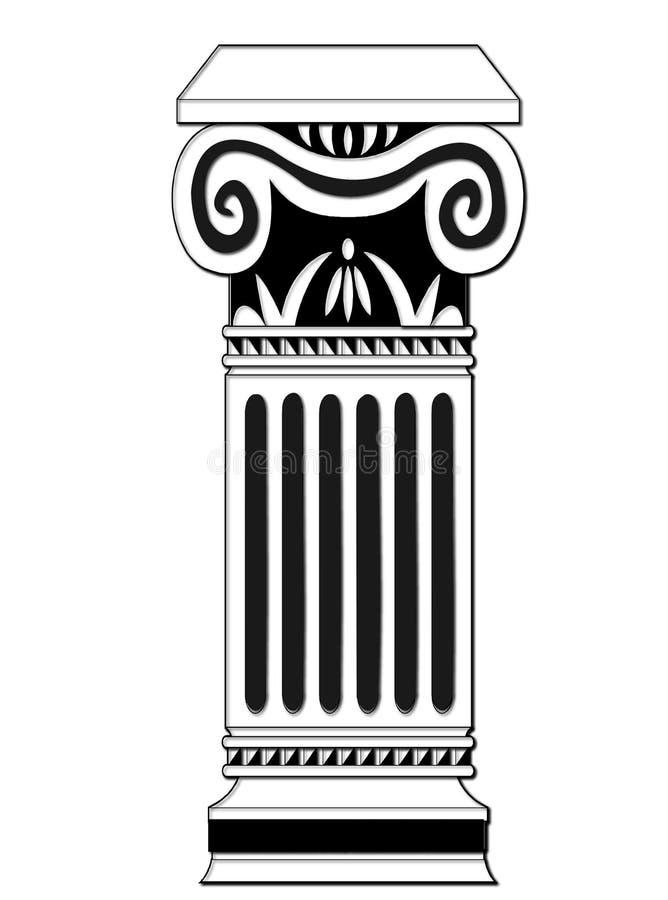 Coluna ilustração stock