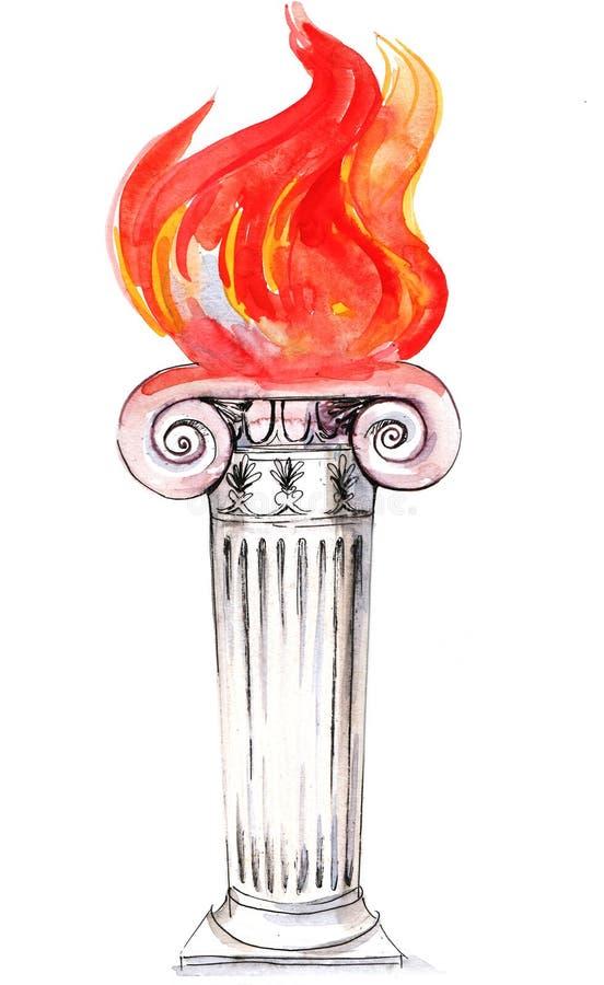 Coluna ilustração do vetor