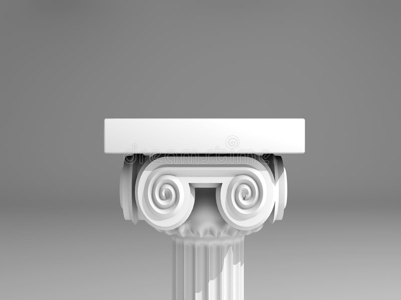 Coluna antiga ilustração royalty free