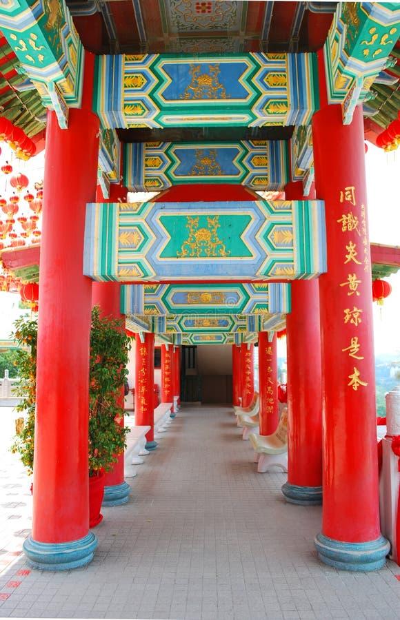 Coluna antiga chinesa fotografia de stock