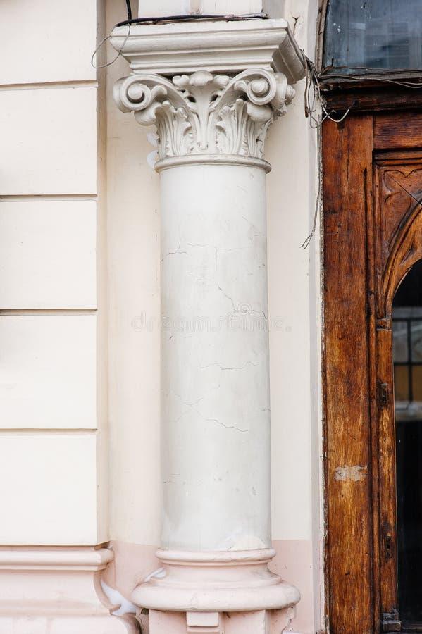 Coluna bonita A arquitetura do século XIX imagem de stock