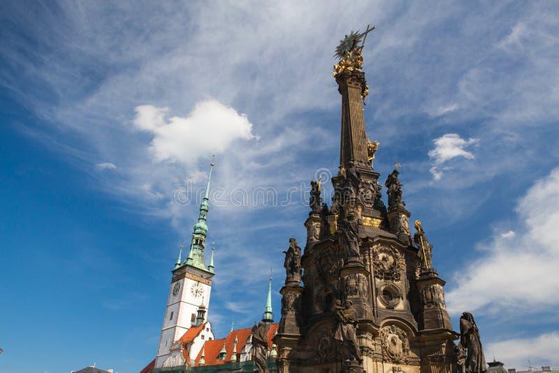 Coluna da câmara municipal e da trindade santamente, Olomouc, República Checa foto de stock