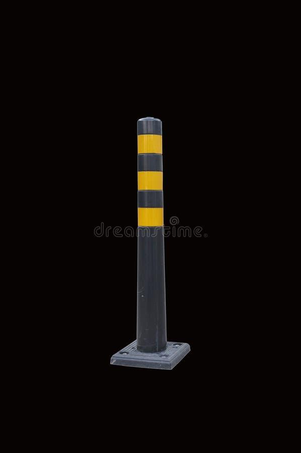 Coluna da estrada, limitação do movimento fundo preto do isolado fotografia de stock