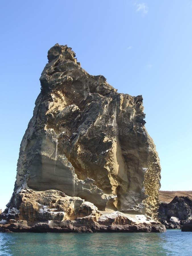 Coluna da rocha nos consoles de Galápagos fotografia de stock