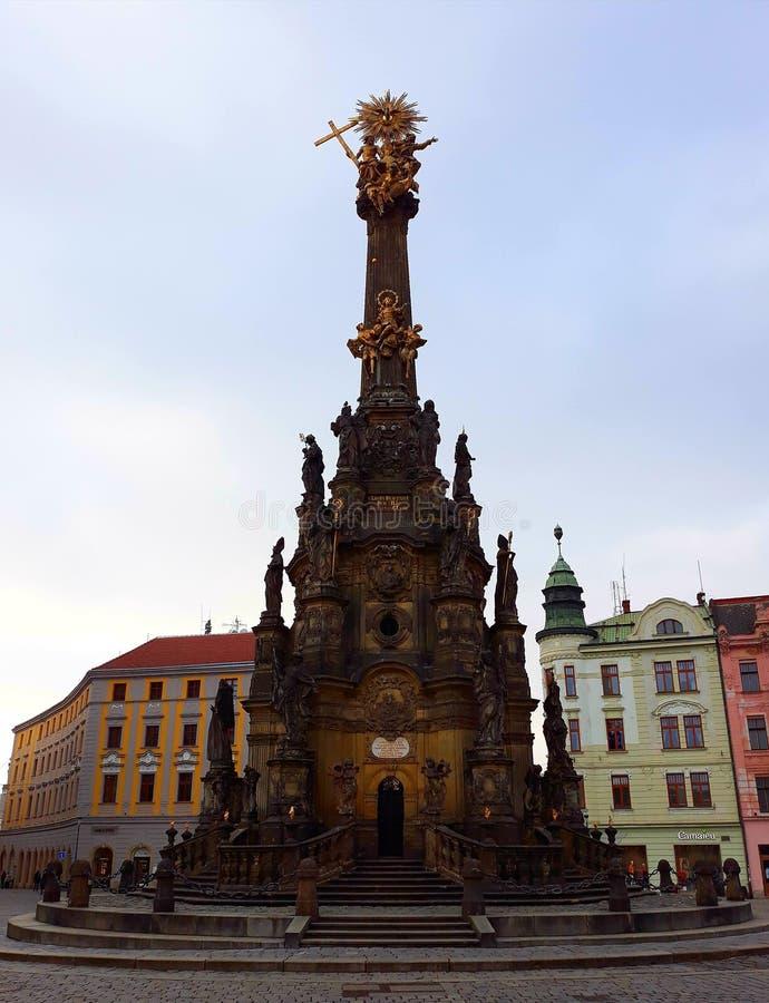 Coluna da trindade santamente em Olomouc, República Checa imagem de stock royalty free