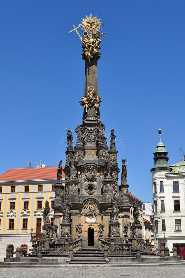 Coluna da trindade santamente, Olomouc foto de stock royalty free