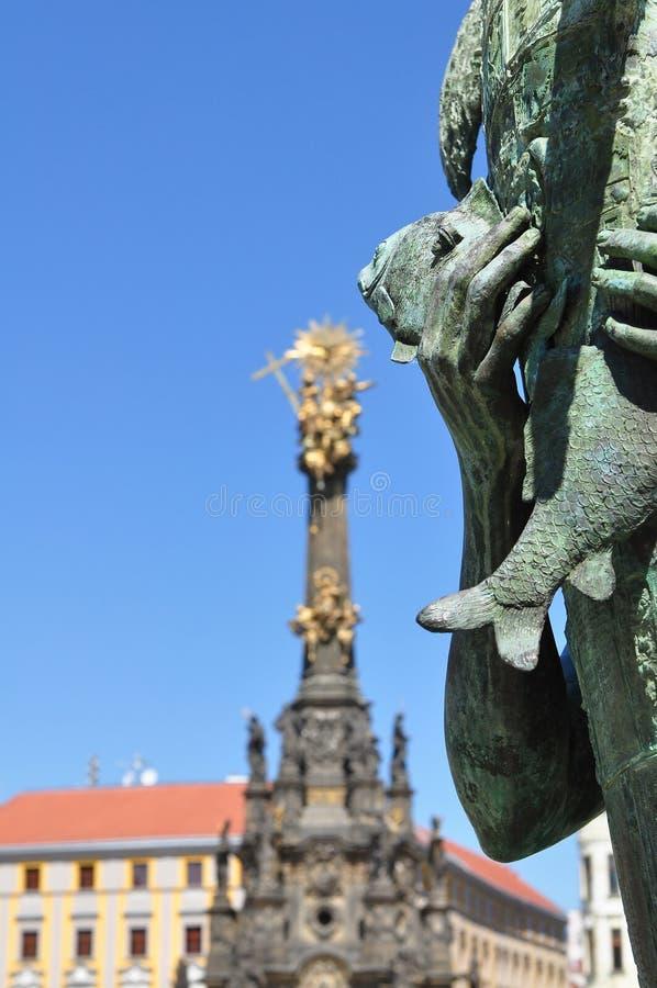 Coluna da trindade santamente, Olomouc fotografia de stock royalty free