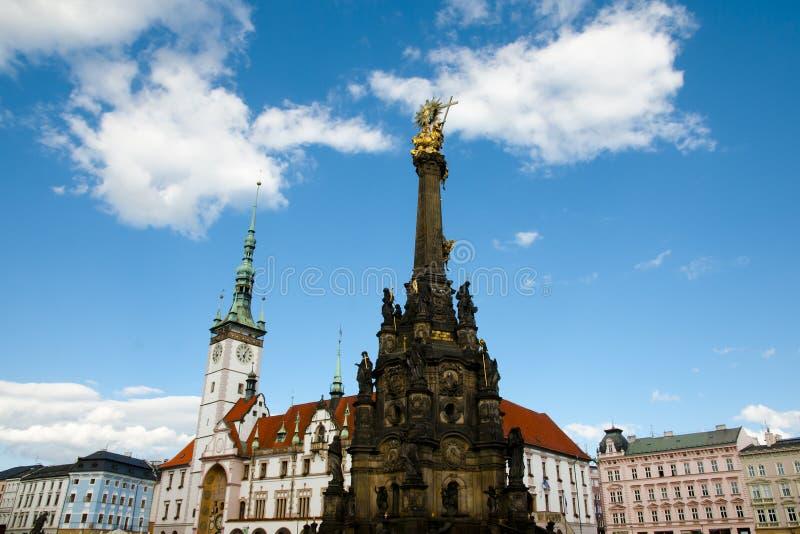Coluna da trindade santamente - Olomouc - República Checa imagens de stock