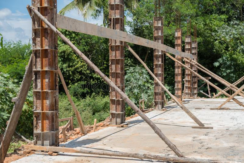 Coluna de aço fotografia de stock