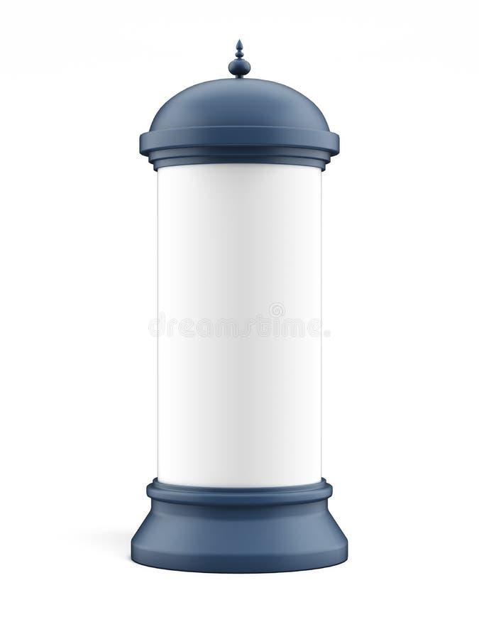 Coluna de anúncio em branco ilustração stock