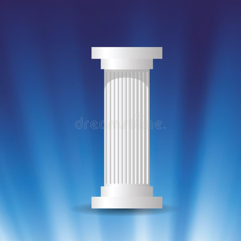 Coluna de mármore branca ilustração do vetor