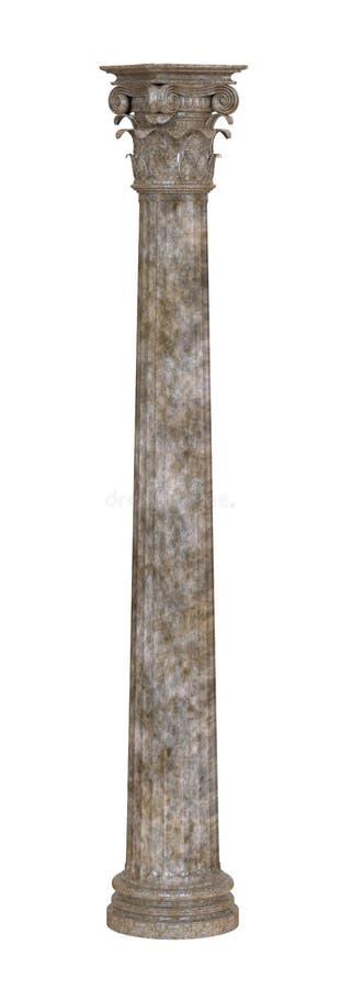 Coluna de mármore clássica ilustração royalty free