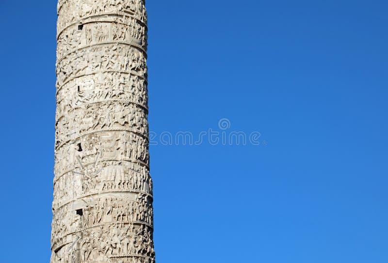 Coluna de Marcus Aurelius em Roma Itália imagens de stock royalty free