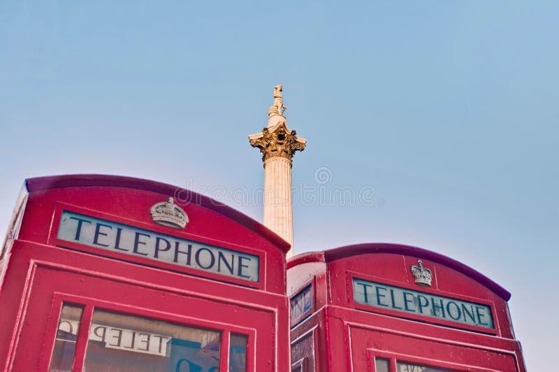 Coluna de Nelsons em Londres, Inglaterra imagem de stock royalty free