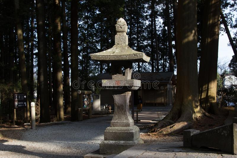 Coluna de pedra Japão imagens de stock royalty free