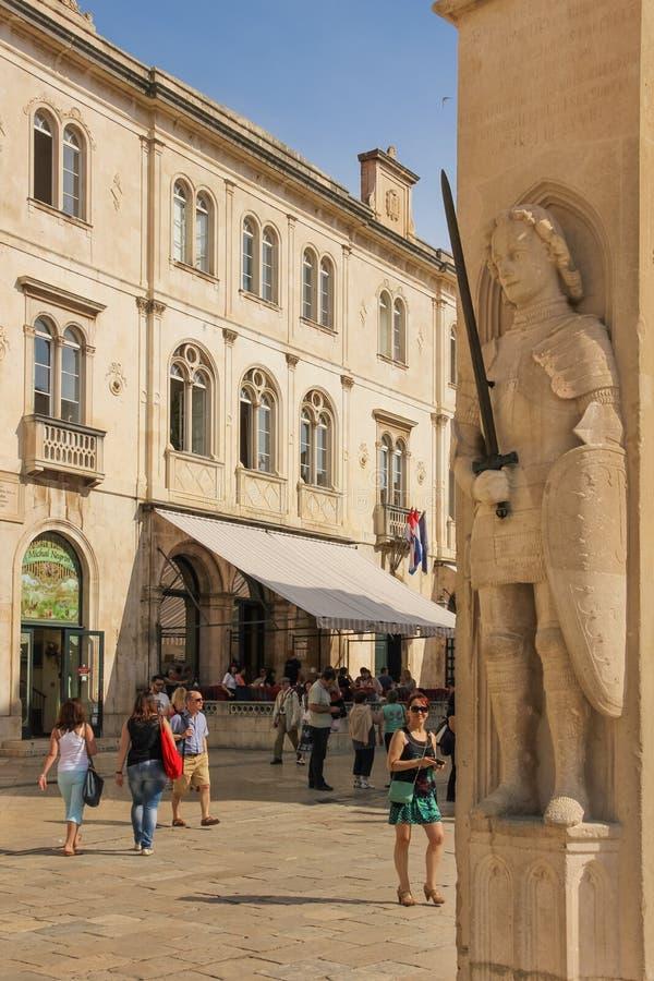 Coluna de s de Orlando ' dubrovnik Croácia fotos de stock