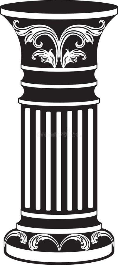 Coluna decorativa arquitetónica ilustração stock