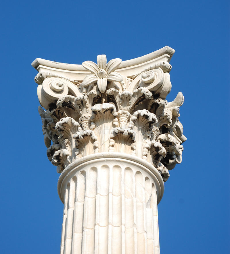 Coluna do Corinthian fotos de stock royalty free