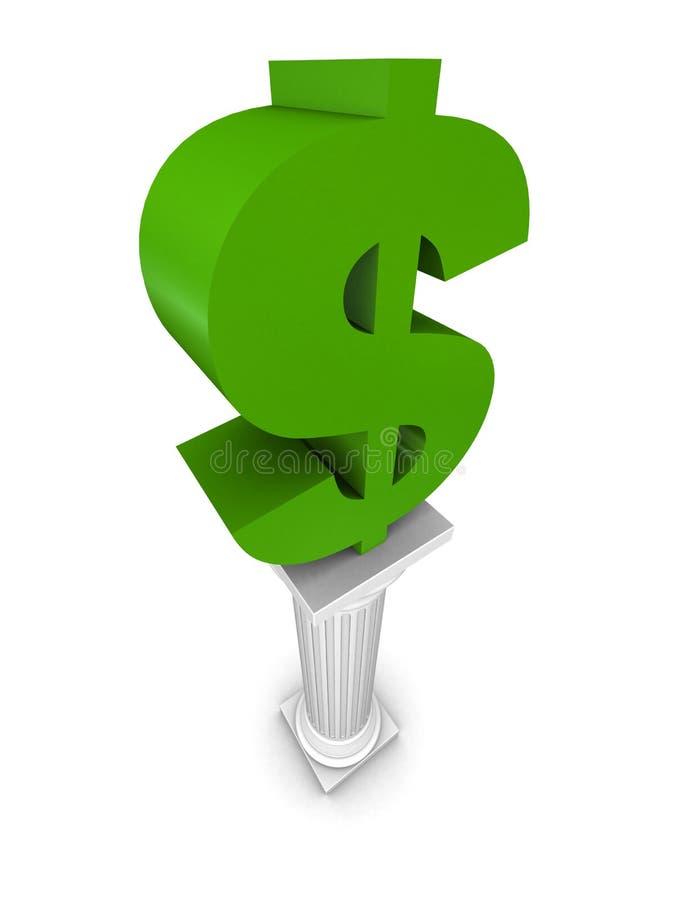 Coluna do dólar ilustração do vetor