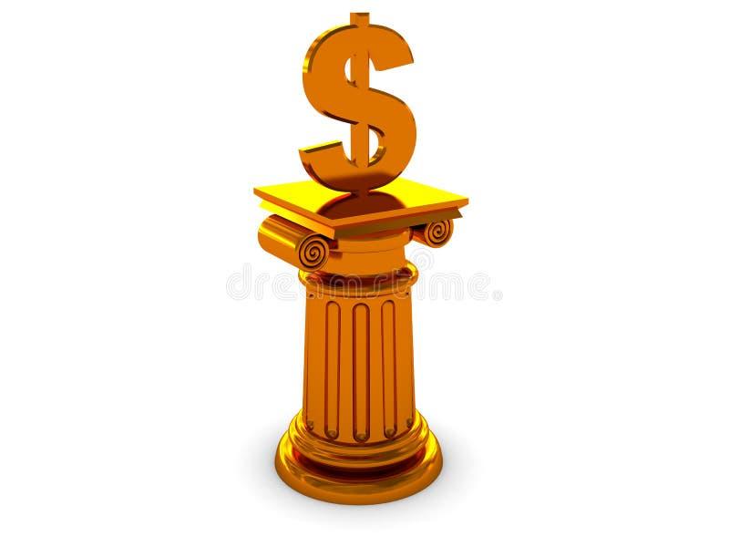 Coluna do dólar ilustração royalty free