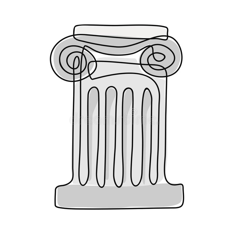Coluna do grego clássico ilustração royalty free