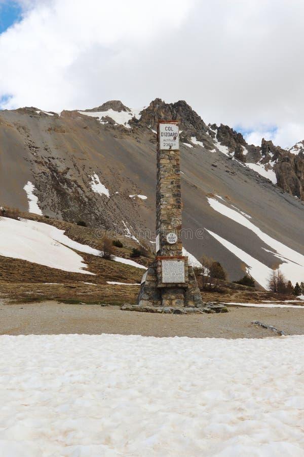Coluna do ` Izoard do colo d, parque natural de Queyras do francês fotos de stock