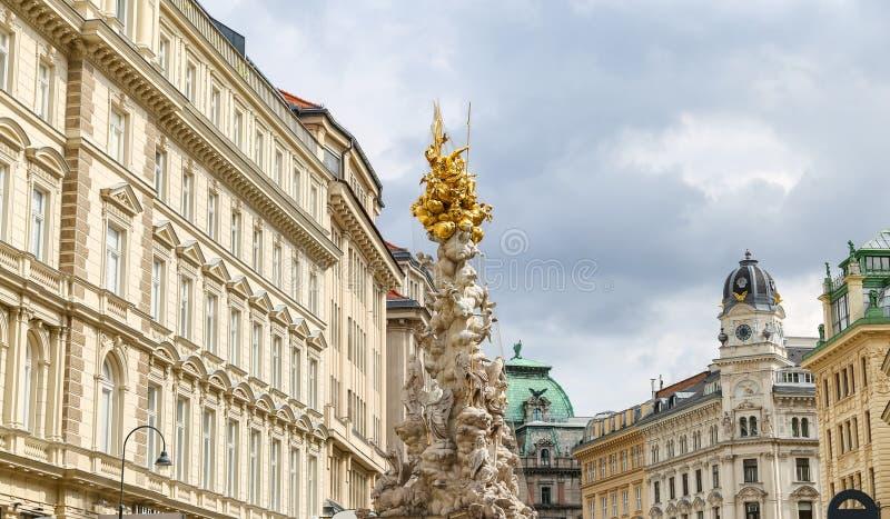 Coluna do praga em Viena, Áustria fotografia de stock royalty free