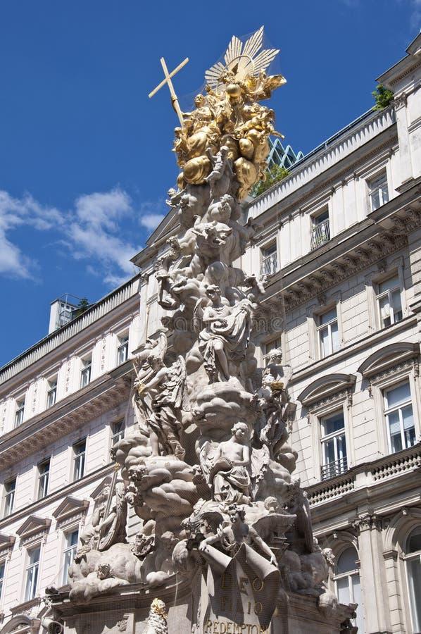 Coluna do praga em Viena, Áustria fotos de stock royalty free