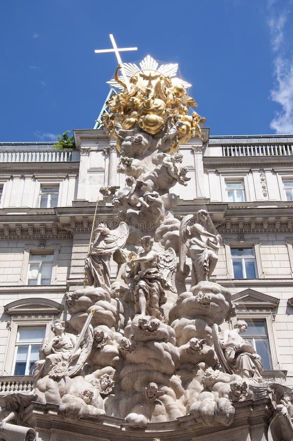 Coluna do praga em Viena, Áustria imagem de stock royalty free