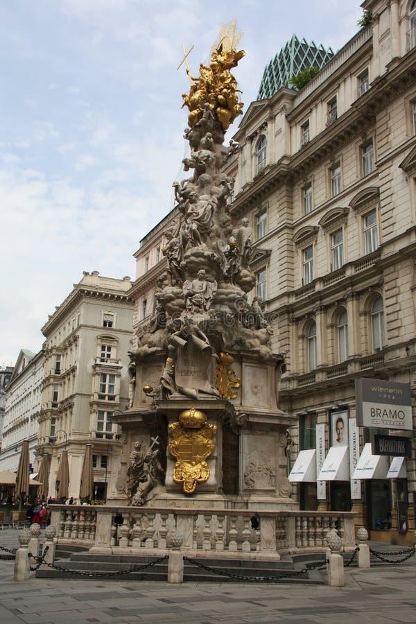 A coluna do praga em Viena, Áustria fotos de stock royalty free