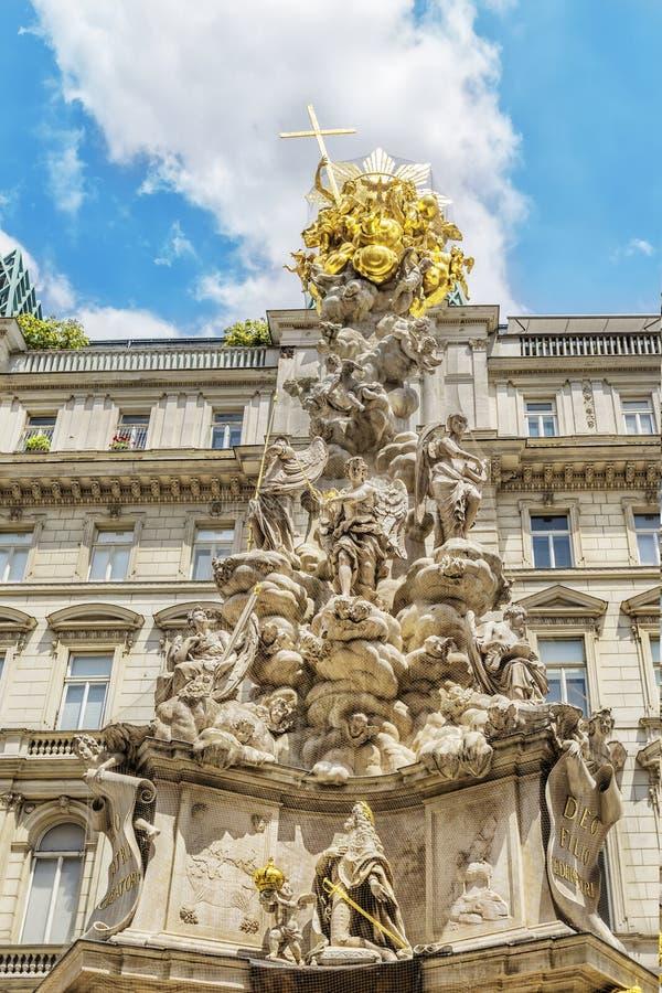 Coluna do praga em Viena, Áustria foto de stock royalty free