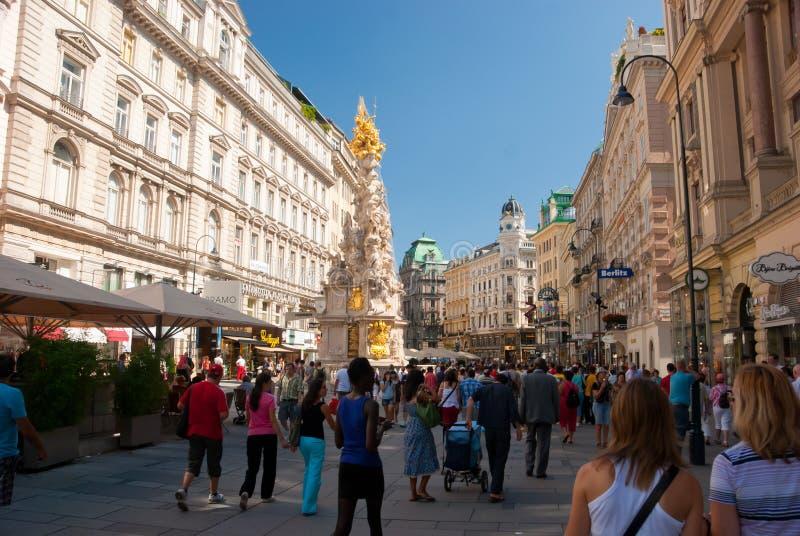 Coluna do praga em Viena imagem de stock