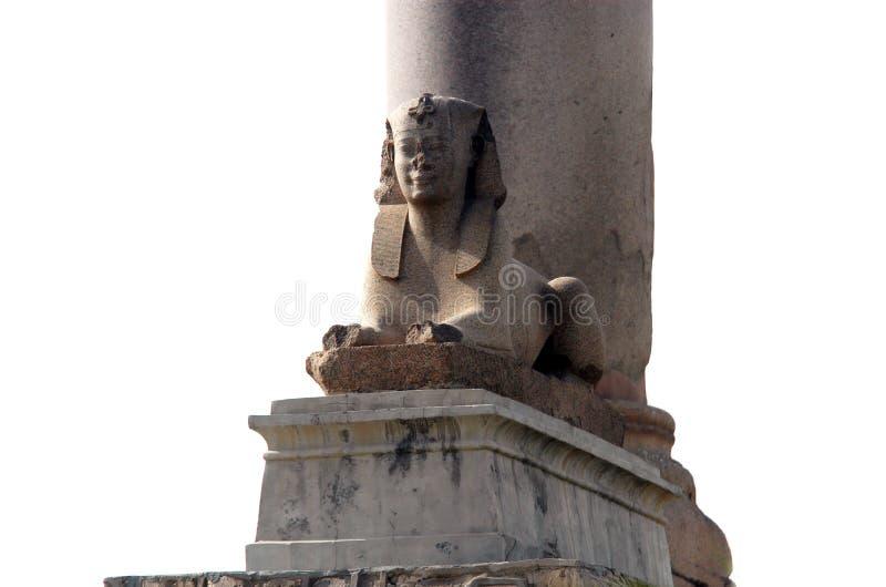 Coluna do `s de Pompey em Alexandria fotos de stock