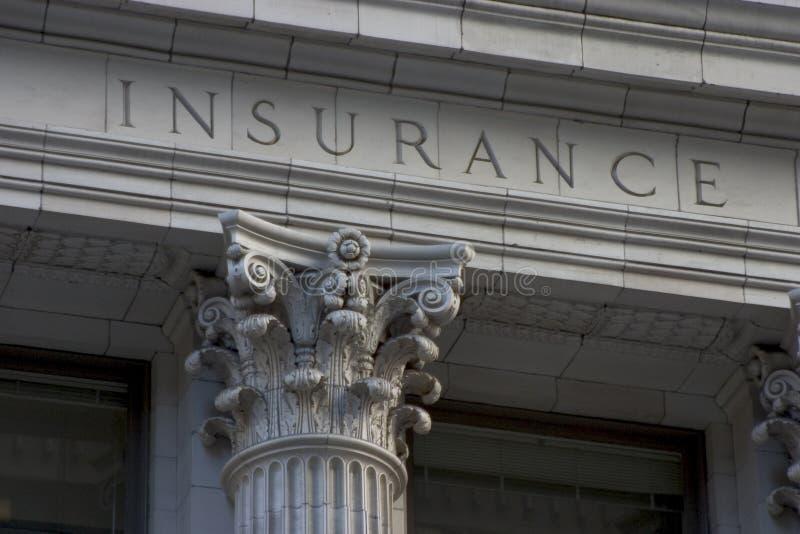 Coluna do seguro imagem de stock royalty free