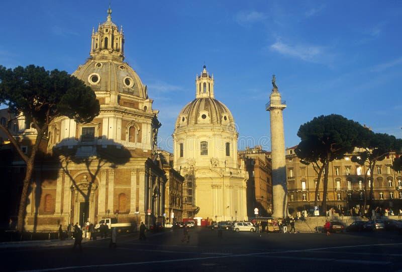A coluna do Trajan imagens de stock