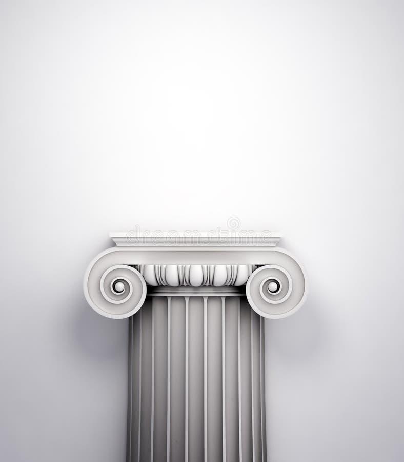 Coluna doric antiga do estilo imagens de stock