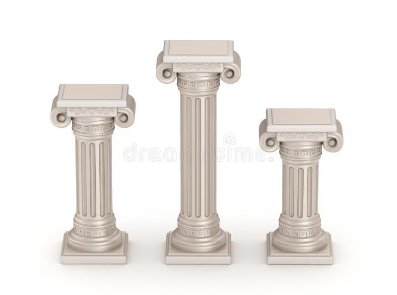 Coluna doric antiga do estilo - detalhe arquitetónico ilustração royalty free