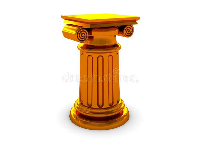 Coluna dourada ilustração royalty free