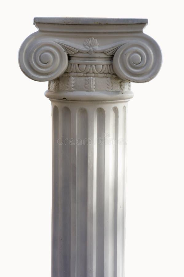 Coluna grega foto de stock