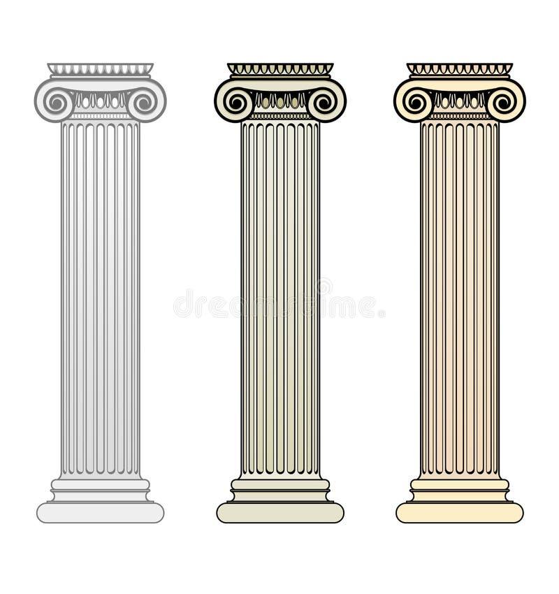 Coluna iónica ilustração do vetor
